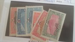 LOT 233053 TIMBRE DE COLONIE COTE DE SOMALIS NEUF* N�116 A 121 VALEUR 42 EUROS