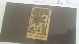 LOT 233059 TIMBRE DE COLONIE COTE IVOIRE NEUF* N�29 VALEUR 15 EUROS