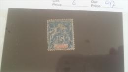 LOT 233060 TIMBRE DE COLONIE COTE IVOIRE OBLITERE N�6 VALEUR 17 EUROS