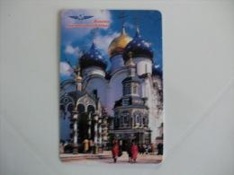 Aeroflot Russian Internacional Airlines  Portuguese Pocket Calendar 1998