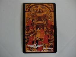 Aeroflot Russian Internacional Airlines  Portuguese Pocket Calendar 1999