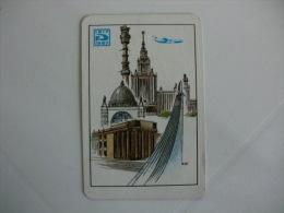 Aeroflot Soviet Airlines  Pocket Calendar 1987