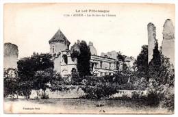 CP, 46, ASSIER, Les Ruines Du Château, Vierge - Assier