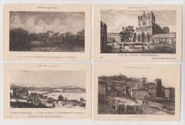 FRANCE - LOT DE 4 CARTES LYON - NON CIRCULÉES - SCANNÉES RECTO ET VERSO - - Cartes Postales