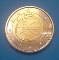 2 Euro Commemorative Espagne 2009 EMU 10ans De L´euro 1999-2009 PIECE NEUVE UNC - Espagne