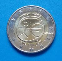 2 Euro Commemorative Chypre 2009 EMU 10ans De L´euro 1999-2009 PIECE NEUVE UNC - Cyprus