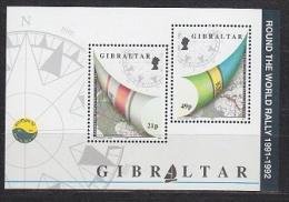 Gibraltar 1992 Round The World Rally  M/s ** Mnh (T985) - Gibraltar