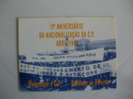 Train Railway Syndicate Portuguese Pocket Calendar 1992