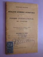 PERMIS  DE CONDUIRE  BORDEAUX 1960 - Titres De Transport