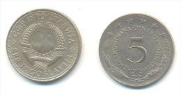 JUGOSLAVIA 5 DINARA ANNO 1975 - Yugoslavia