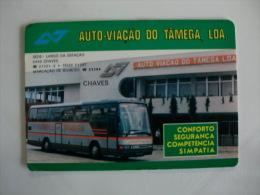 Autobus  Bus Autocarro Auto Via��o do T�mega, Lda Portuguese Pocket Calendar 1990