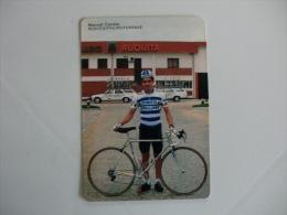 Cycling Cyclisme Ciclismo Ruquita Philips Feirense Manuel Correia Portuguese Pocket Calendar 1989 - Calendriers