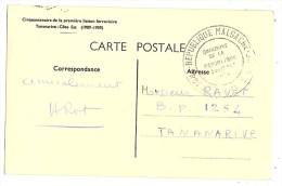 Madagascar Cinquantenaire du Chemin de Fer 4.10.1959 1�re Liaison Tananarive-C�te Est 1909 Train Gare