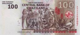 SWAZILAND P. 39a 100 E 2010 UNC - Swaziland