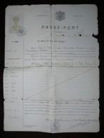 belgisch congo belge 1924 paspoort passeport luitenant kolonel  muller emmanuel + foto + foto extra