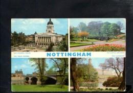 F2691 England - Nottingham - The Council House - The Castle Grounds - The Trent Bringde - University - Nice Timbre - Nottingham