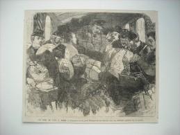 GRAVURE 1872. LE JOUR DE L'AN A PARIS. L'OMNIBUS DE LA POSTE TRANSPORTANT LES FACTEURS DANS LES DIFFERENTS QUARTIERS.... - Prenten & Gravure