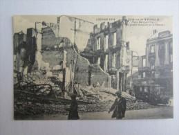 BELGIQUE LOUVAIN 1914 COINS RUE DE LA STATION ET PLACE MARGUERITTE LE GRAND COMPTOIR DE LA HAVANE - Leuven