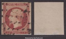 *PROMO* 1Fr Empire Oblitéré Gros Points TB D´aspect (Y&T N° 18, Cote +3500€) - 1853-1860 Napoléon III