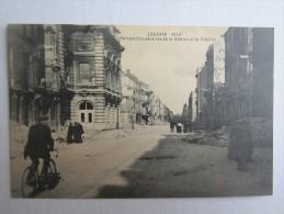 BELGIQUE LOUVAIN 1914 PERSPECTIVE DE LA RUE DE LA STATION ET LE THEATRE - Leuven