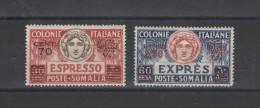 SOMALIA 1926 ESPRESSI SERIE CPL. CENTRATISSIMA  ** MNH LUSSO - Somalia