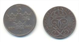 SVEZIA 5 ORE ANNO 1949 - Schweden