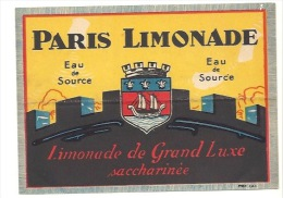 Ancienne étiquette Paris Limonade  Limonade De Grand Luxe - Etiquettes