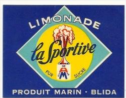 Ancienne étiquette Limonade La Sportive  Produit Marin Blida - Etiquettes