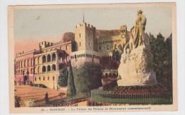 (RECTO / VERSO) MONACO - N° 25 - LE PLALAIS DU PRINCE ET MONUMENT COMMEMORATIF - Prince's Palace