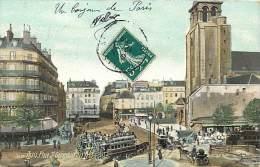 Paris  -ref-B100 - Place Saint Germain Des Pres -  Aqua Photo L V C Colorisee - Carte Bon Etat - - Arrondissement: 05