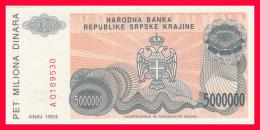 KNIN 5 000 000 DIN 1993 P-R24 - Croatie