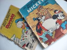 2 Albums LES BELLES HISTOIRES DE WALT DISNEY : DONALD Philatéliste 1953 Et MICKEY Et L'Idole Inca 1952 - Disney