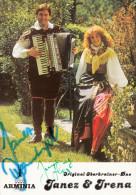 OBERKRAINER- DUO  JANEZ Und IRENA  - Autographe / Dedicace - Originalautogramm - Autographs