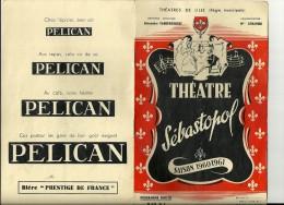 THEATRES DE LILLE   ( Regie Municipale  THEATRE SEBASTOPOL  Saison 1960-1961 Programme Officiel - Théâtre