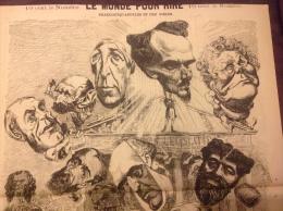 1869 Journal LE MONDE POUR RIRE - BEAUCOUP D�APPEL�S ET PEU D��LUS Par Alfred LE PETIT
