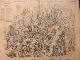 1870  Journal LE MONDE POUR RIRE - DEMANDEZ L'ORDRE ET LA MARCHE DU B�UF GRAS AVEC LA COMPLAINTE !! Par A LEMOT