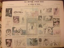 1870  Journal LE MONDE POUR RIRE - LE SALON DE 1870 Par MOLOCH