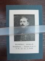 ERQUELINNES Sergent BLONDIAU Adolphe 1914-1918 /knipsel Van 1935 /WO I/Belgian Soldier WO I - Guerre 1914-18