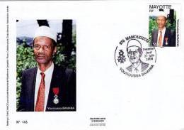 MAYOTTE 2009 Enveloppe 1er Jour Younoussa Bamana - Mayotte (1892-2011)