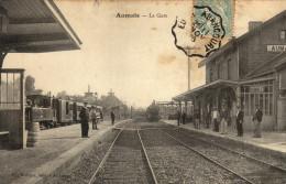 76 Aumale. La Gare - Aumale