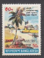 BANGLADESH, 1986, SAARC, South Asian Association For Regional Cooperation, Overprinted, Tree, Mosque,  MNH, (**) - Bangladesh