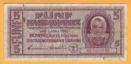 1942 Ucraina. 5 Karbovanets. - Ukraine