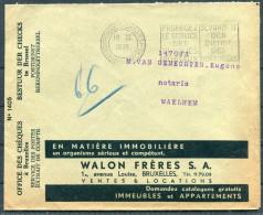 1938 Belgium Advertising Cover - Walon Freres ESTATE AGENTS - Advertising