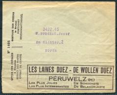 1930s Belgium Advertising Cover - WOOL DUEZ - Advertising
