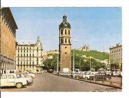 69002 LYON Place Antonin Poncet Et Clocher Ancien Hopital Charité /CPSM N° 69.123.95 Voy. 1966 / B.E. - Lyon