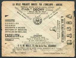 1930s Belgium Advertising Cover - DECHY Publicity Office Graisseurs Bulteau-Panneels Screws - Advertising