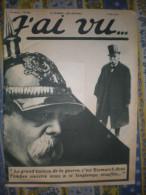 J� AI VU N� 202 du 09/05/ 1919 BISMARCK BEATTY ET BERDOULAT BARBE BLEUE GAMBAIS LANDRU PARIS LYCEE CARNOT SCULPTEUR BOUC