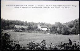 21  SAINT PIERRE EN VAUX  ANCIENNE EGLISE ET EMPLACEMENT ANCIEN VILLAGE  SOEUR DE BRECHARD - France