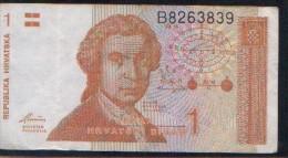 CROATIE  Billet De 1 Dinar-1991 - Croatia