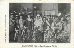 Paris  -ref-B35 -mi Careme 1906 - Les Reines Au Matin - Le Matin Journal - Journaux - Presse - Carte Bon Etat - - Zonder Classificatie